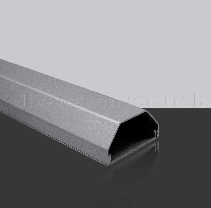 90cm ALU Kanal silber Kabelkanal Abdeckung Cover silver 90 cm